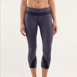 Lululemon Inspire Crop Wee Are From Space Indigo
